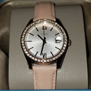 Fossil Scarlette mini 3hand date blush watch